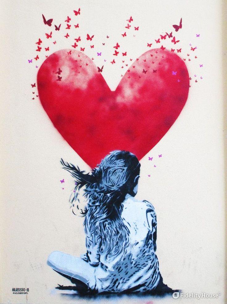 """Interpreto così questo """"quadro"""" di Alessio-B, """"Una giovane sogna l'amore""""."""