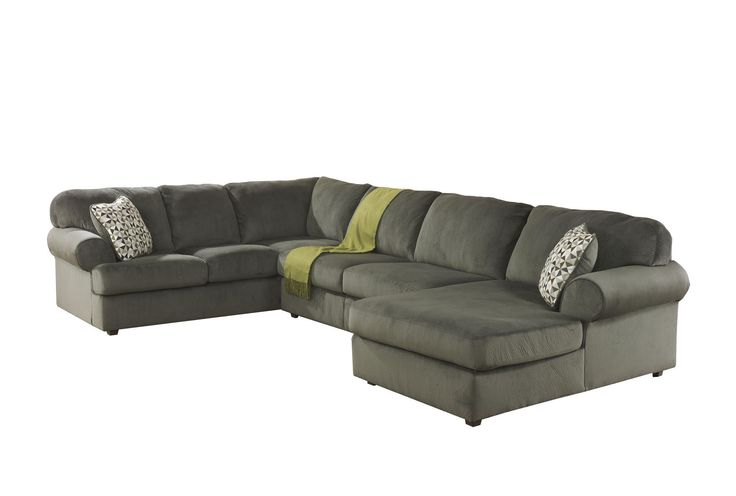jessa place pewter 3 piece sectional w laf chaise decor