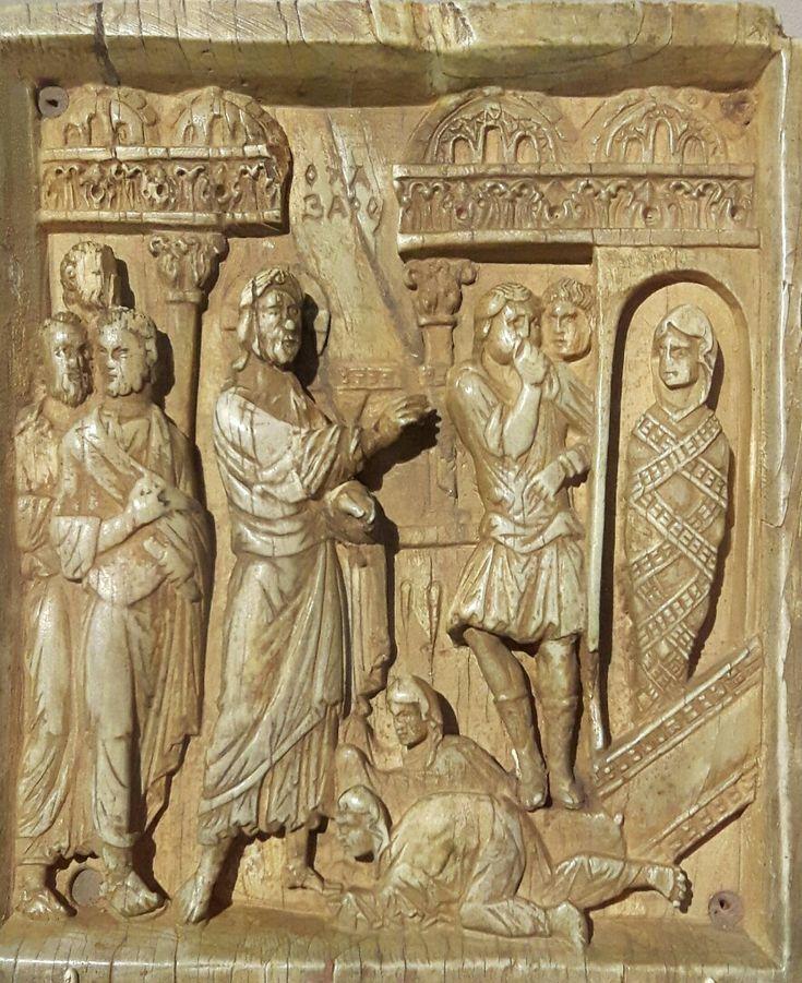 Icona con la Resurrezione di Lazzaro.  X sec. Costantinopoli.  Bode Museum