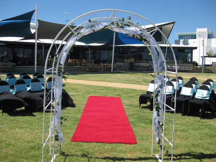 Mandurah Wedding Venue Lawn Ceremony with Marina Views #wedding #mandurah #mofsc #events #venue #ceremony #marina www.mofscevents.com.au