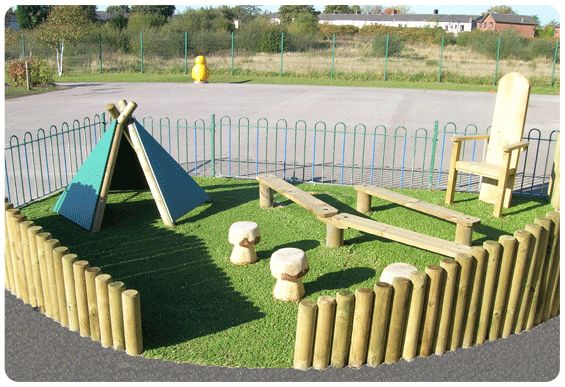 School Playground Story Area | Kids Outdoor Wooden Story Area | Designers | Suppliers UK