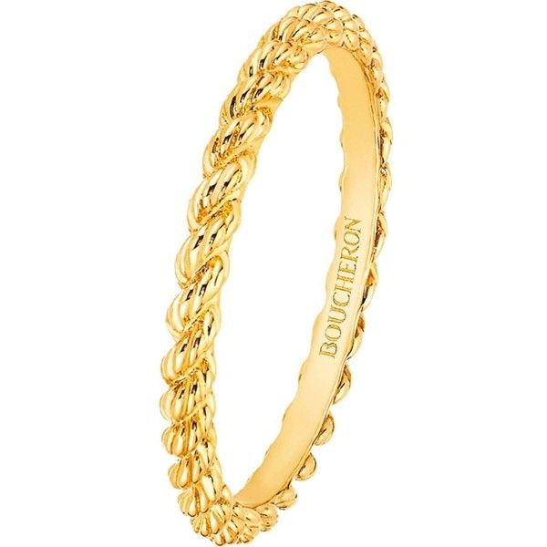 Serpent Bohème 18ct yellow-gold wedding band (1 455 BGN) ❤ liked on Polyvore featuring jewelry, rings, boucheron jewelry, yellow gold rings, engraved rings, gold wedding rings and boucheron ring