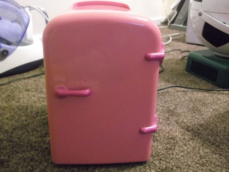 4L LITRE PINK PORTABLE MINI FRIDGE CHILLER COOLER/WARMER