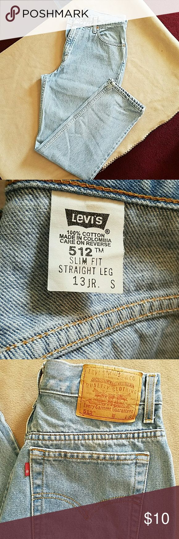 Faded LEVI'S 512 SLIM FIT STRAIGHT LEG JEANS Faded LEVI'S 512 slim fit straight leg jeans. In good condition.  Length is 40 inches.  Inseam is 28 inches.  Waist is  28 inches. Levi's Jeans Straight Leg