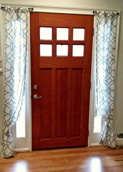 diy side light curtains, doors, how to, reupholster, window treatments, windows                                                                                                                                                                                 More