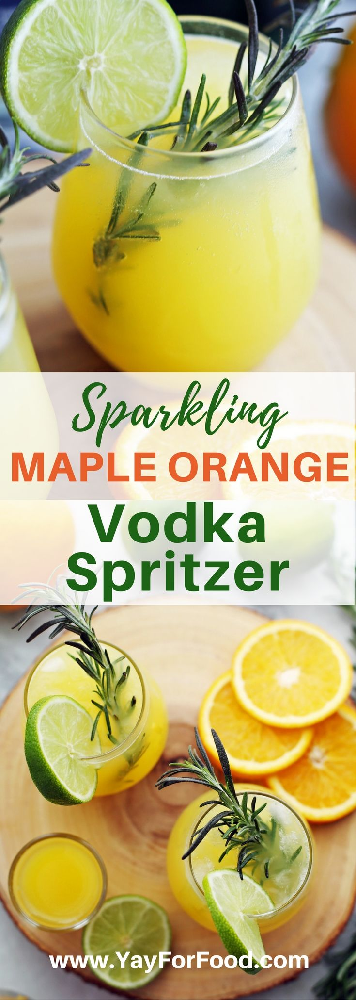 SPARKLING MAPLE ORANGE VODKA SPRITZERS - umm yes please!