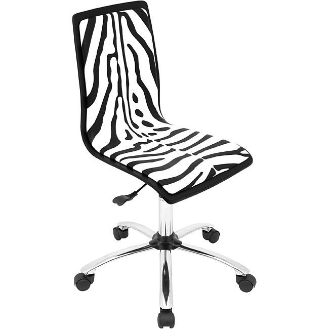 Lumisource Printed Zebra Computer Chair Black Products