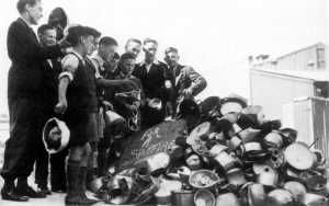 Ordinary Australians donating aluminium kitchen utensils for use in aircraft manufacture