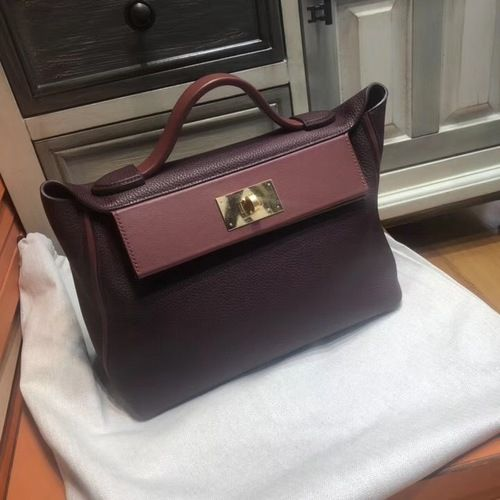 85e05ee17131 Hermes Kelly 24 24 Bordeaux   Rouge Swift   Togo Leather with Gold Hardware   SS2019  onlineshopping  discountbag  designerbag  fash…