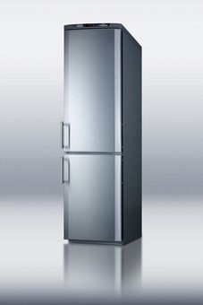 "Small Footprint Refrigerator Freezer / 24"" wide and deep / 11.74 cubic ft capacity / (FFBF171SS) from Summit Appliance /"