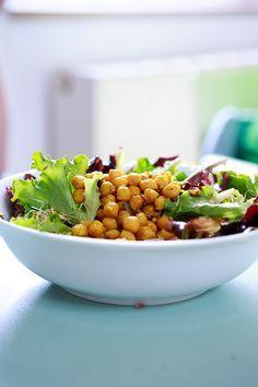 Kichererbsen-Salat mit Sprossen