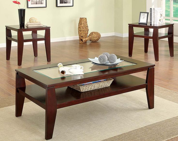 Coffee Table And End Table Sets For Cheap Part - 22: Espresso Finish Coffee And End Tables | Scott Three Piece Table Set