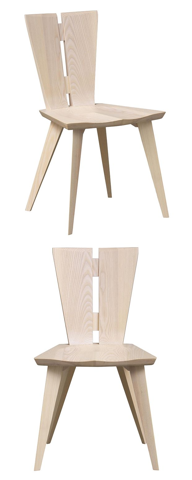 Make a statement with the beauty of geometric architecture. This exquisite dining chair is made with solid ash hardwood and features creative cut-outs along the back. Wide-set legs give this piece ampl...  Find the Against the Grain Dining Chair, as seen in the The Blueprint of Modern Design Collection at http://dotandbo.com/collections/the-blueprint-of-modern-design?utm_source=pinterest&utm_medium=organic&db_sku=118656