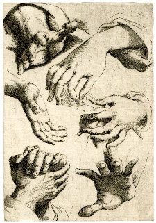 Print attributed to Luca Ciamberlano, after Agostino Carracci (1600-1630).  #fineart #illustration
