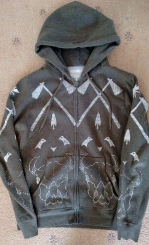 Mens-Ralph-Lauren-Denim-Supply-indian-chief-hoodie-size-M-VGC