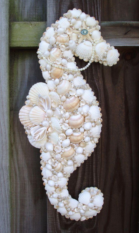 ❥ seashell seahorse ornament but I'm thinking door decor at the beach house