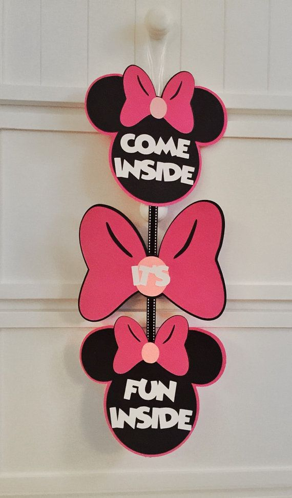 Minnie Mouse Clubhouse Sign-Minnie Mouse Door by GreyMonet on Etsy