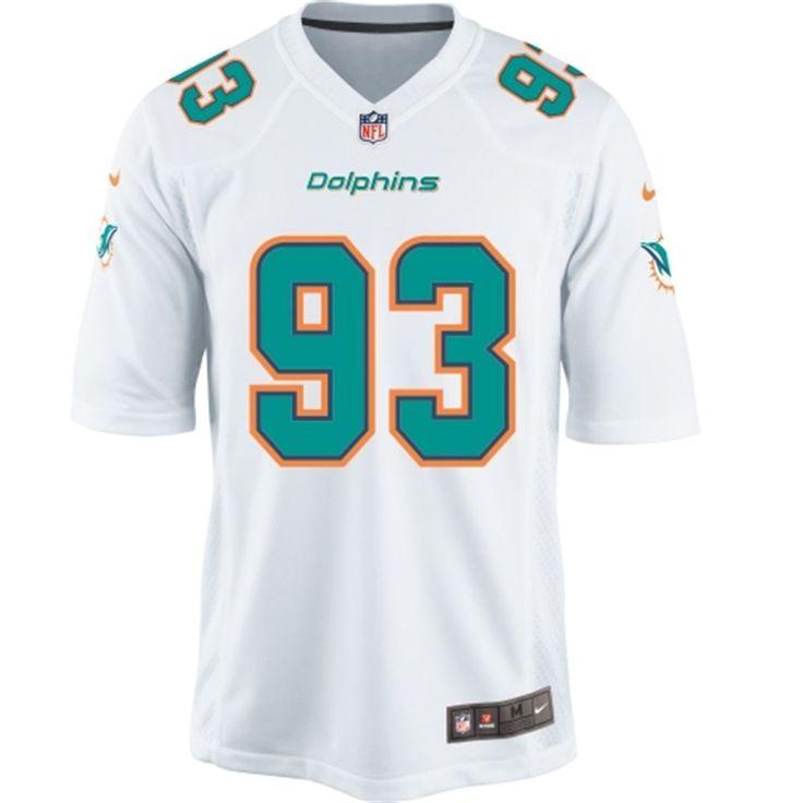 Men's Miami Dolphins Ndamukong Suh Nike White Game Jersey