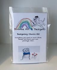 All you need is 12 gauge wire, stick foam, a wood base and some inspiration to design a cool chair. Or you can order a Doodle Art & Design Chair Kit!