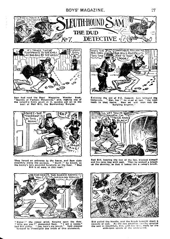 BRITISH GOLDEN AGE COMICS 1939-1951: Sleuth-Hound Sam The Dud Detective no. 7