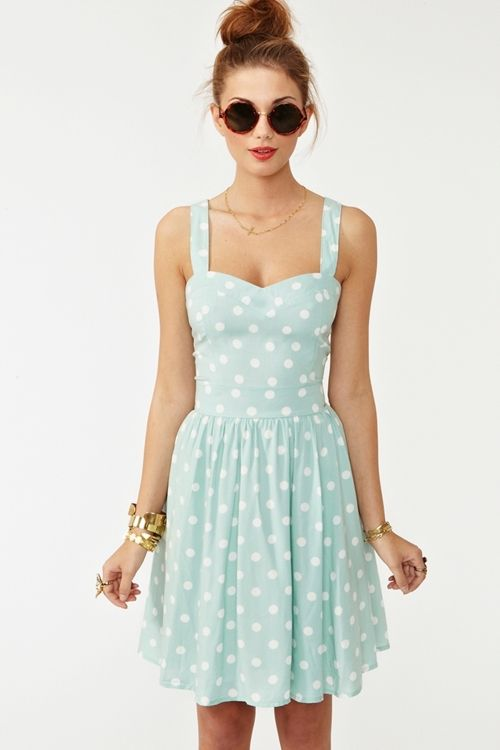 adorable dress!: Baby Blue, Summer Dresses, Polka Dots Dresses, Mint Green, Style, Color, Cute Dresses, The Dresses, Sunglasses