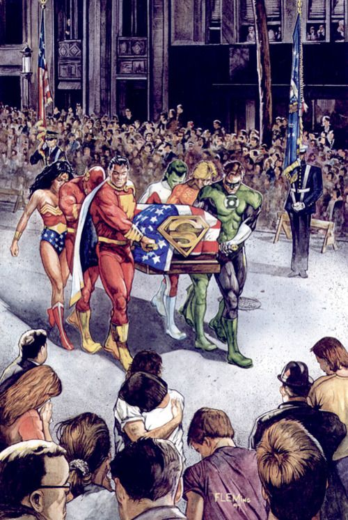 The Death of Superman by Tom Fleming (1992)...I've actually witnessed this day and live with the aftermath everyday still.