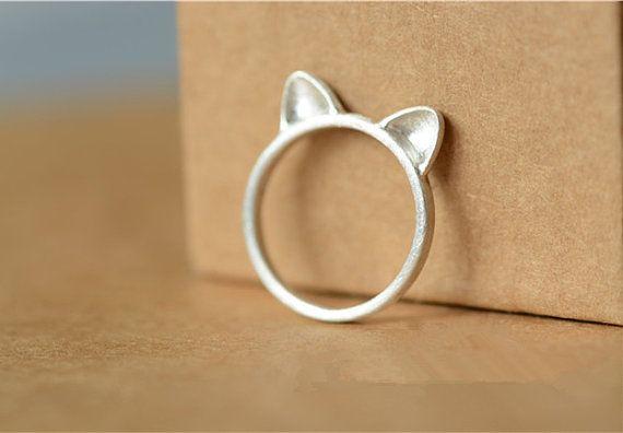 Handmade Silver Cat Ring, Handmade 990 Silver Ring, Bridesmaid ring, Bridal, Wedding, Teenage, Christmas, Birthday, Gift #etsy #etsyretwt