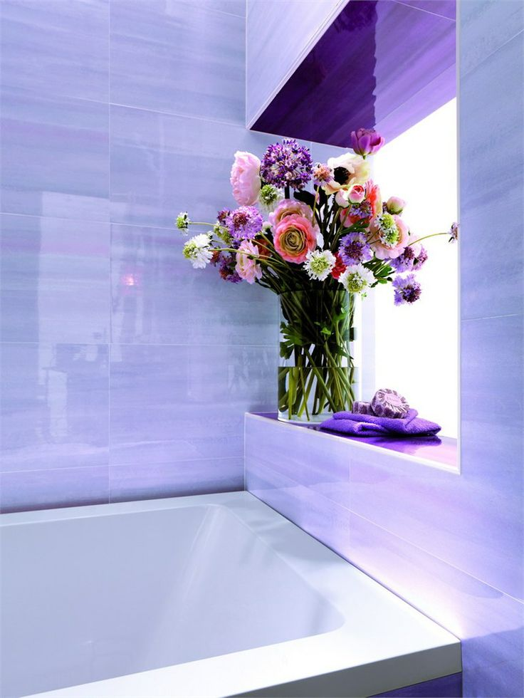 Wall/floor Tiles CIELO By FAP CERAMICHE #purple #colour #flower #bathroom
