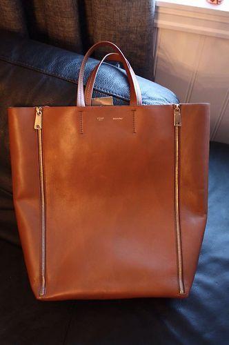 Celine Zipper Cabas Vertical Bag Camel Brown | Celine