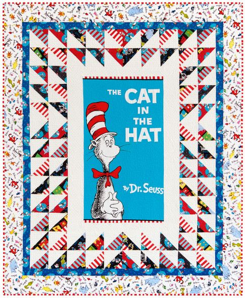 Love Those Panels Designer Pattern: Robert Kaufman Fabric Company. Features Celebrate Seuss!, Spot On, and the Cat in the Hat