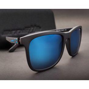 7e4249960 O Óculos de Sol Masculino Arnette Chenga AN4240 01/55-56 modelo quadrado  feito em acetato leve e confortável. Na cor preta fosca com lente espelhada  a