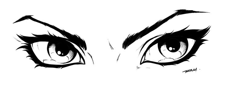 Line Drawing Eye : Comic book style womans eyes art and photography