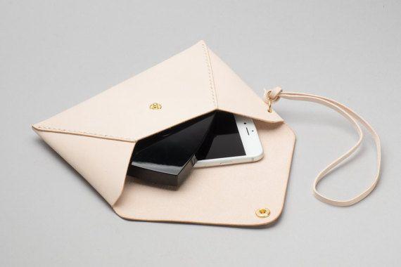 Monograma bolso de cuero sobre embrague / bolsa / bolso por HarLex