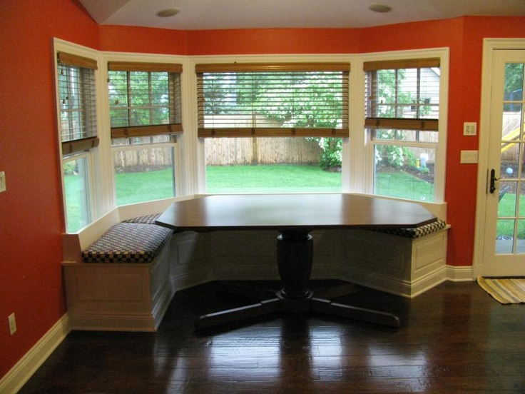kitchen corner booth seating cabinets columbus we had a bay window in the of house i grew up ...