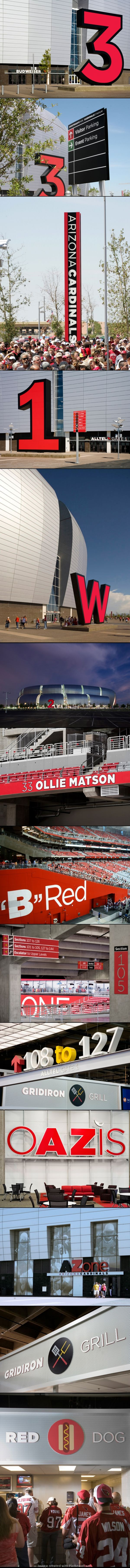 Arizona Cardinals Stadium wayfinding | by Pentagram (Michael Gericke and team)