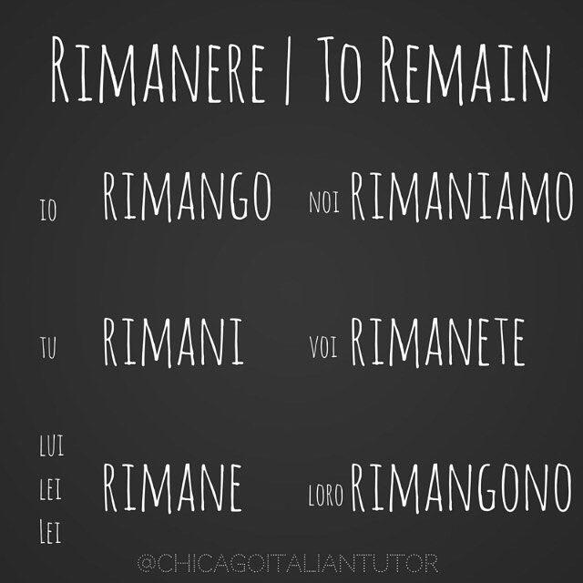 Learning Italian Language ~ rimanere | to remain