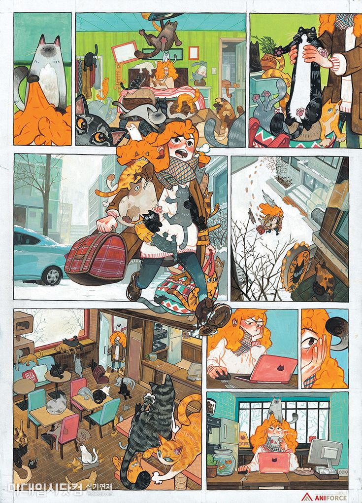 Комикс с картинками на французском