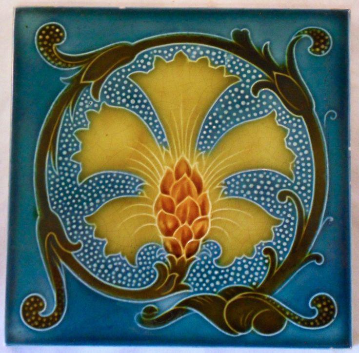 Quite Good For A Design From Pilkington S C1905 9 Although Some May Say Not True Art Nouveaui I Have Included This Design Tile Art Art Nouveau Tiles Mosaic Art