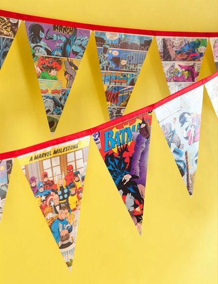 Seeing comic diy items just gave me the idea to make a comic book themed bedroom.... for my little brothers.