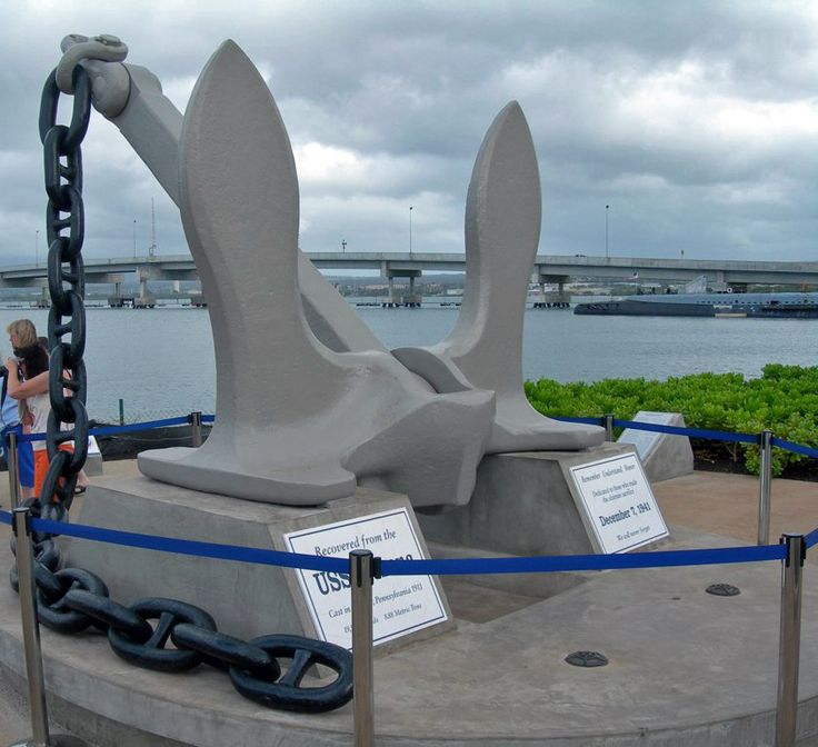 Did you know that the anchor for the USS Arizona was cast in Southeastern Pennsylvania? It was, and it is preserved at the Pearl Harbor Memorial in Honolulu. #PearlHarbor75