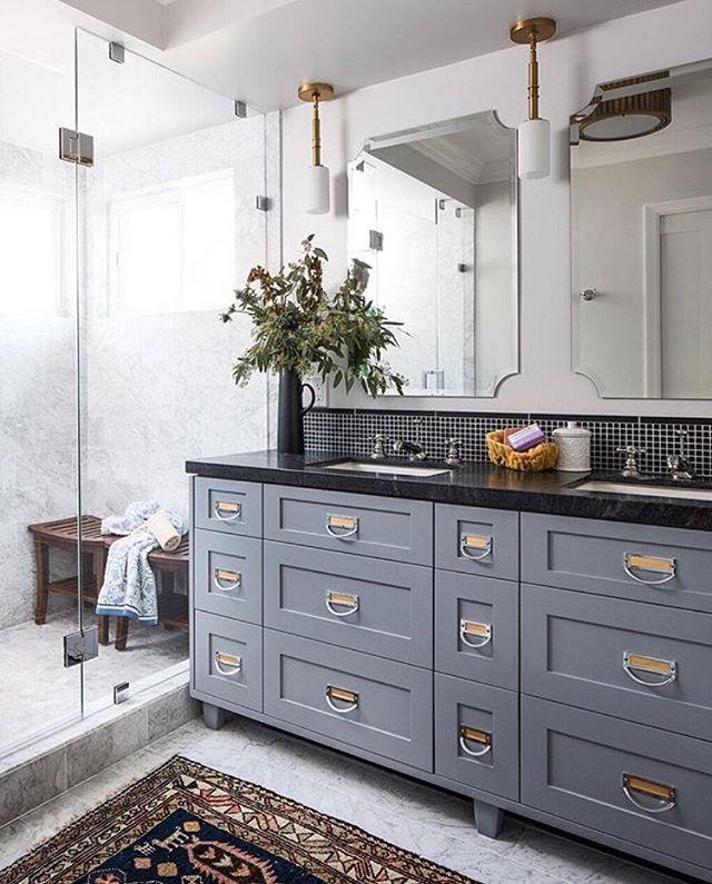 681 best beautiful bathrooms images on Pinterest | Bath ... on Bathroom Ideas With Black Granite Countertops  id=42024