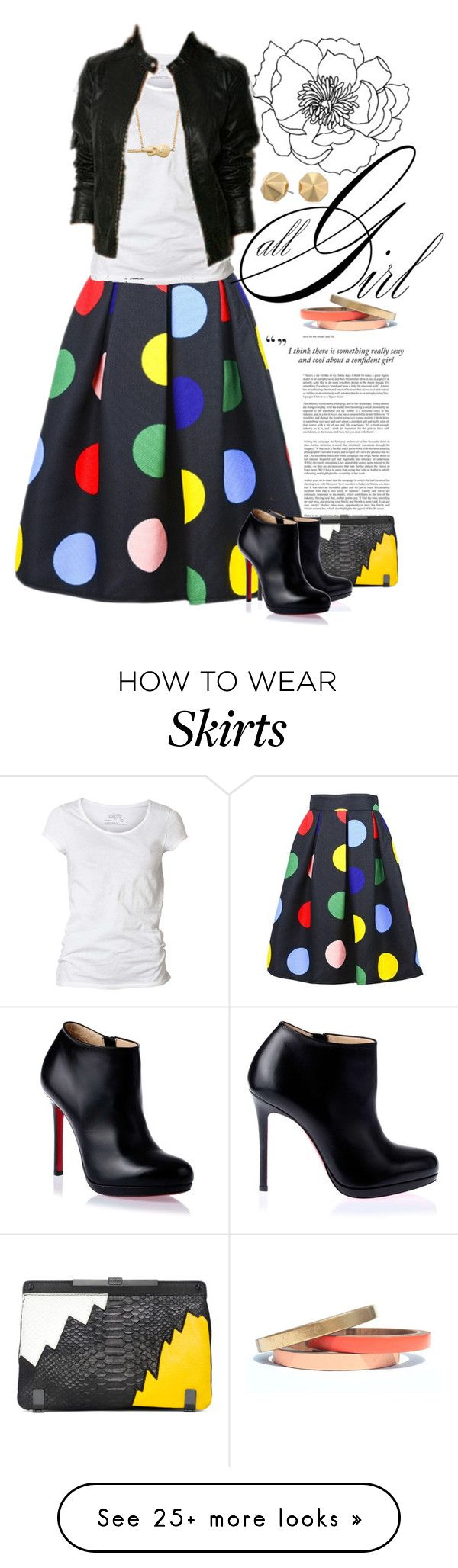 """""""Style Me: Skirt"""" by dawn-scott on Polyvore featuring AllSaints, Marc by Marc Jacobs, Christian Louboutin, Rebecca Minkoff and Voz Collective"""
