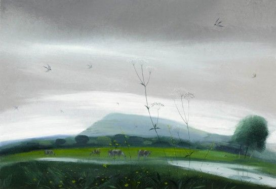 Swallows and Cows in the Silvery Light