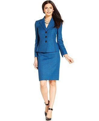Le Suit Tweed Skirt Suit