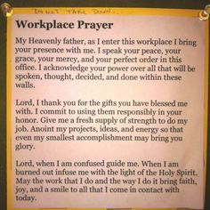 prayer for workplace - Google Search