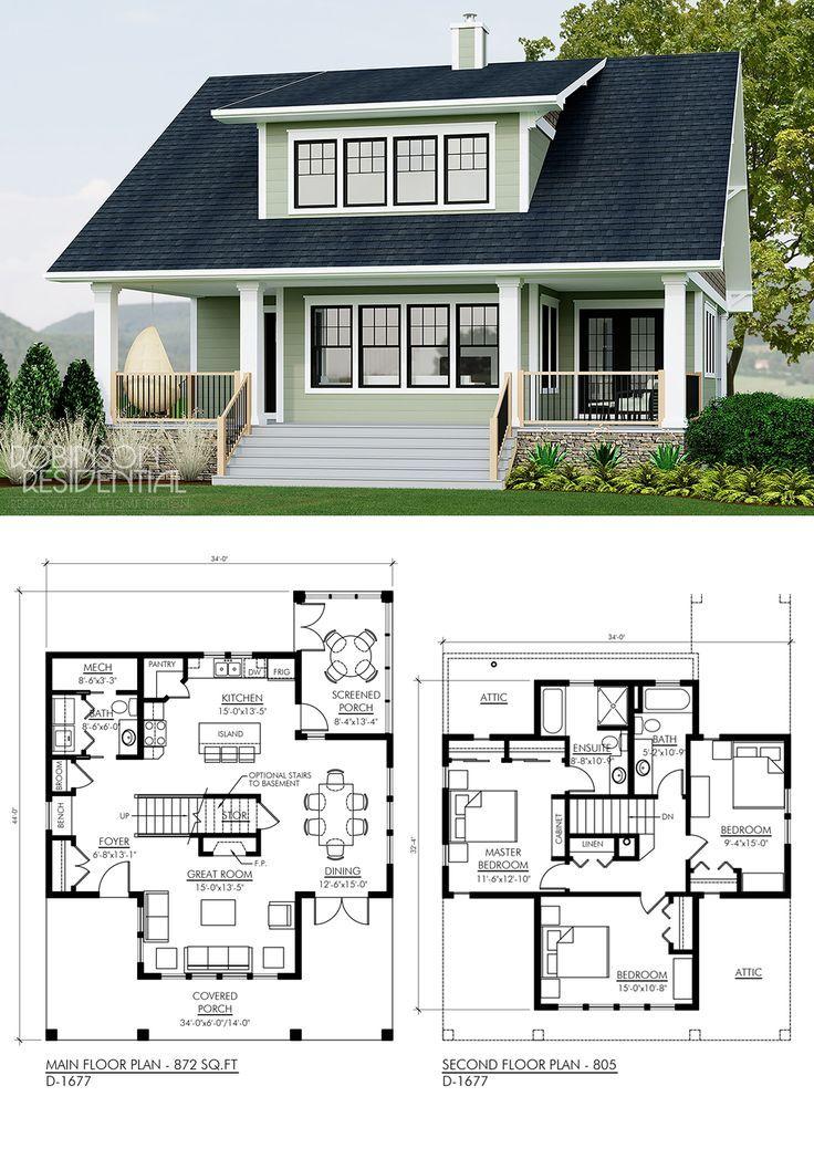 Craftsman D 1677 Sims House Plans Craftsman House Plans
