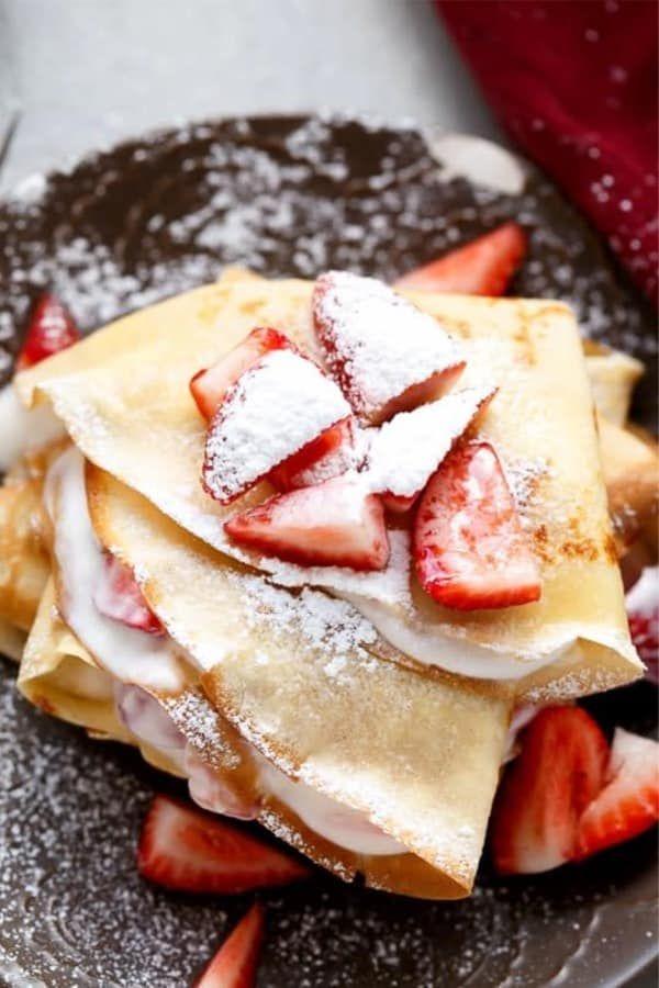 Best Homemade Sweet Crepe Recipes For Breakfast Food Sweet