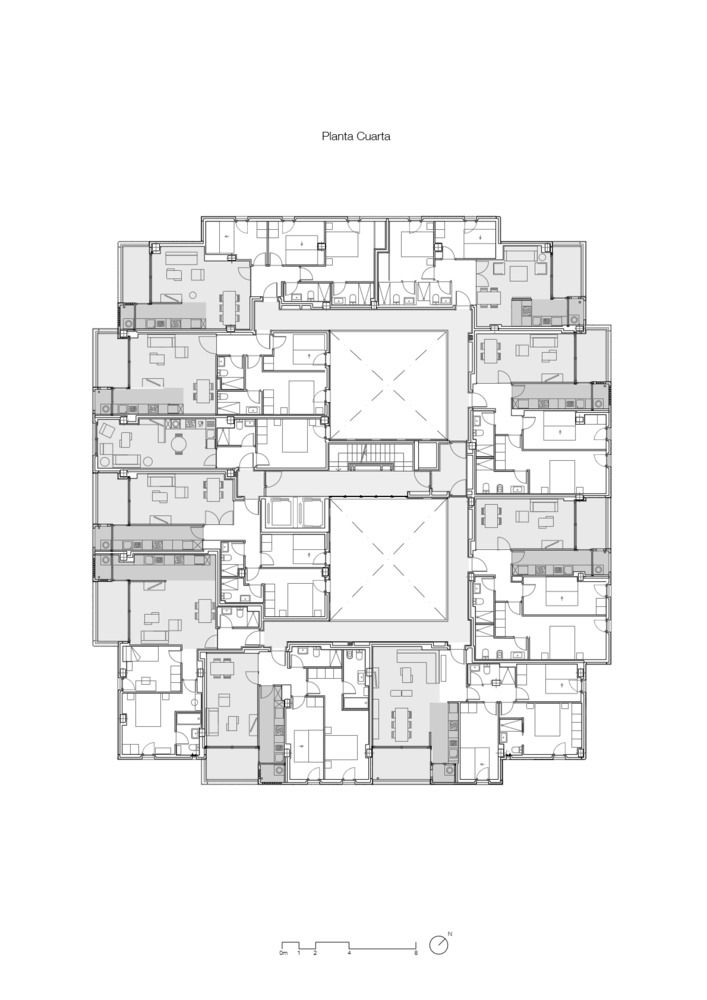 Gallery Of Building Of 73 Apartments Munoz Miranda Architects 32 Apartment Plans Apartment Architect