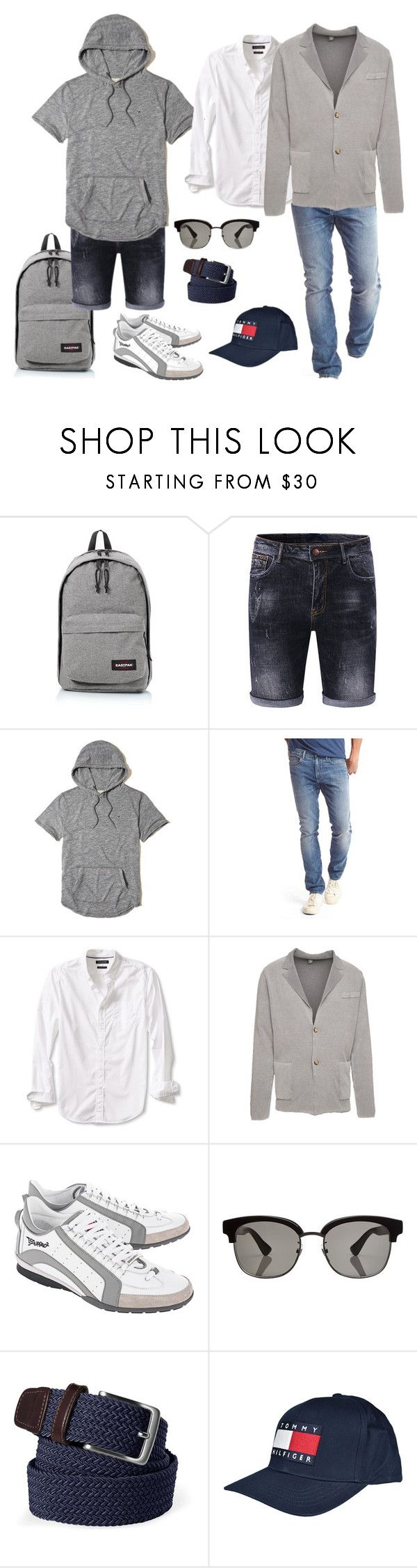 Комплект для выходных by repriza on Polyvore featuring Eastpak, Dsquared2, Eleventy, Gucci, Gap, Banana Republic, Tommy Hilfiger, Lands' End and Hollister Co.