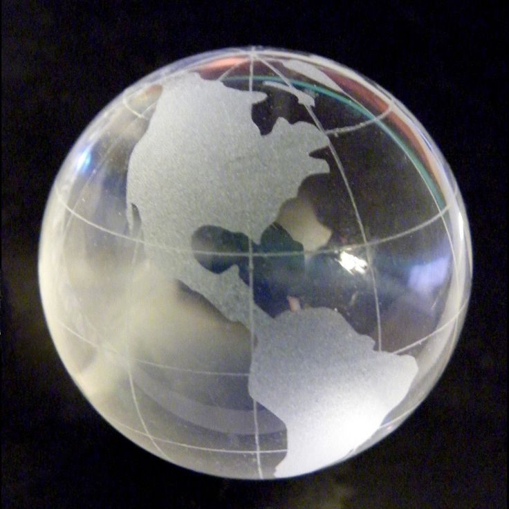 Vintage Crystal Glass Ball World Globe Punk Goth Steampunk Cosplay Costume Cool!